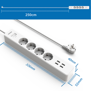 Image 2 - Ntonpowerネットワークフィルタースマート電源ストリップeuプラグ4000ワットサージプロテクターのためのホームオフィス2.5mコード延長ソケット