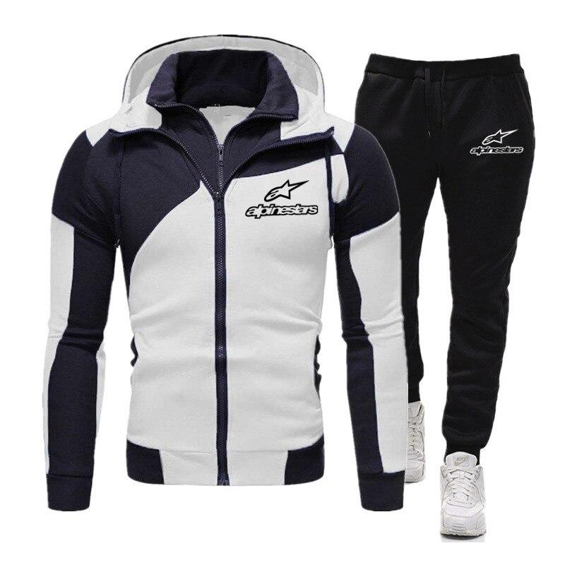 Alpinestar/комплект из двух предметов, спортивный костюм, мужской комплект с худи, спортивная одежда, плотная толстовка с капюшоном + штаны, спорт...