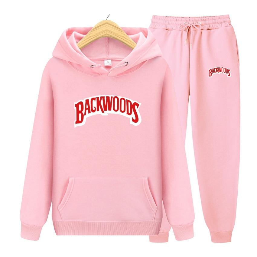 2020 New Men Hoodies Sweatshirts Sets Autumn Plus Fleece Fashion Sportswear Male Hoody BACKWOODS Printed Costume