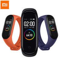 Xiao mi mi Band 4 Globale Version Uhr Original Smart Armband 3 Farbe AMOLED Bildschirm mi Band 4 Bluetooth Fitness herz Rate Band