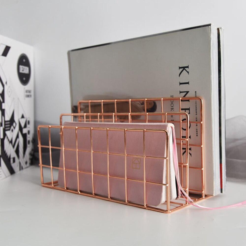 escritório ouro rosa bloco livro metal três