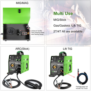 Image 3 - MIG Welder MIG 175 Gas/Gasless DC 220V2 in 1 Flux Core Wire And Solid Wire IGBT Inverter Welding Machine MMA MIG MAG
