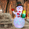 LED Light Inflatable Model Christmas Snowman Colorful Rotate Airblown Dolls Toys for Household Parties Accessories
