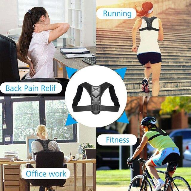 Aptoco Adjustable Back Posture Corrector Clavicle Spine Back Shoulder Lumbar Brace Support Belt Posture Correction 1