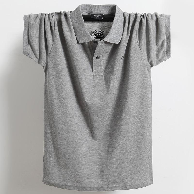 Summer Men Polo Shirt Brand Clothing Pure Cotton Men Business Casual Male Polo Shirt Short Sleeve Breathable Soft Polo Shirt 5XL 7