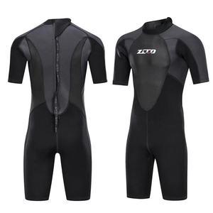 Image 1 - גברים חליפת צלילה שורטי 3mm Neoprene חורף חזרה Zip בגד ים לשחייה שנורקלינג גלישת קיאקים צלילה חליפה