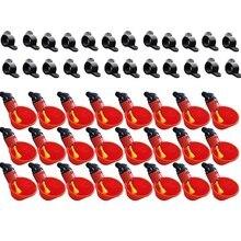HOT-24Pcs alimentação automática pássaro coop aves de capoeira frango bebedor água potável copos gado copo ferramentas aves domésticas
