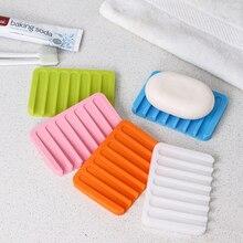 1pc Bathroom Silicone Soap Dish Rack Storage Box Soap Plate Tray Holder Rack Bathroom Suction Cup Dish Cloths Holder цена 2017