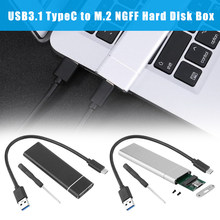 New Hot USB 3.1 Type C to M.2 PCIe SSD Enclosure Adapter Case Box for NVME SATA SSD NV99(China)