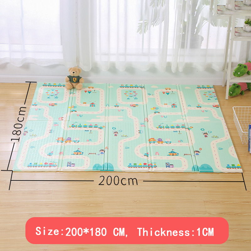 XPE Baby Play Mat Crawling Mat Double Surface Baby Carpet Rug Developing Mat for Children Game Pad in The Nursery Activity Gym | Happy Baby Mama