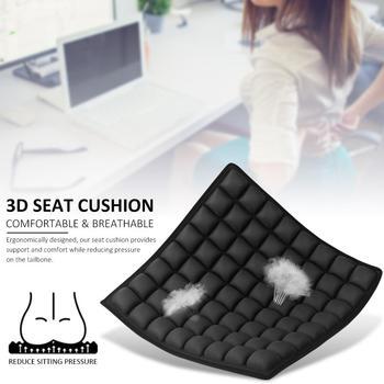 Fotelik samochodowy elastyczna mata poduszka oddychająca Hip Protector Sofa poduszka podróżna ochrona kręgosłupa szyjnego 3D poduszka siedziska antypoślizgowe podkładki