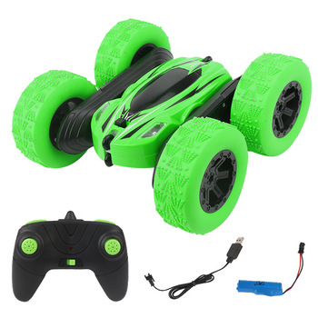 RC Toy Sunt Car CarDouble-Size Roll All Round Rotate 360 Degrees Remote Control Car High Speed Flashing 3D Flip Roll Child Gift image