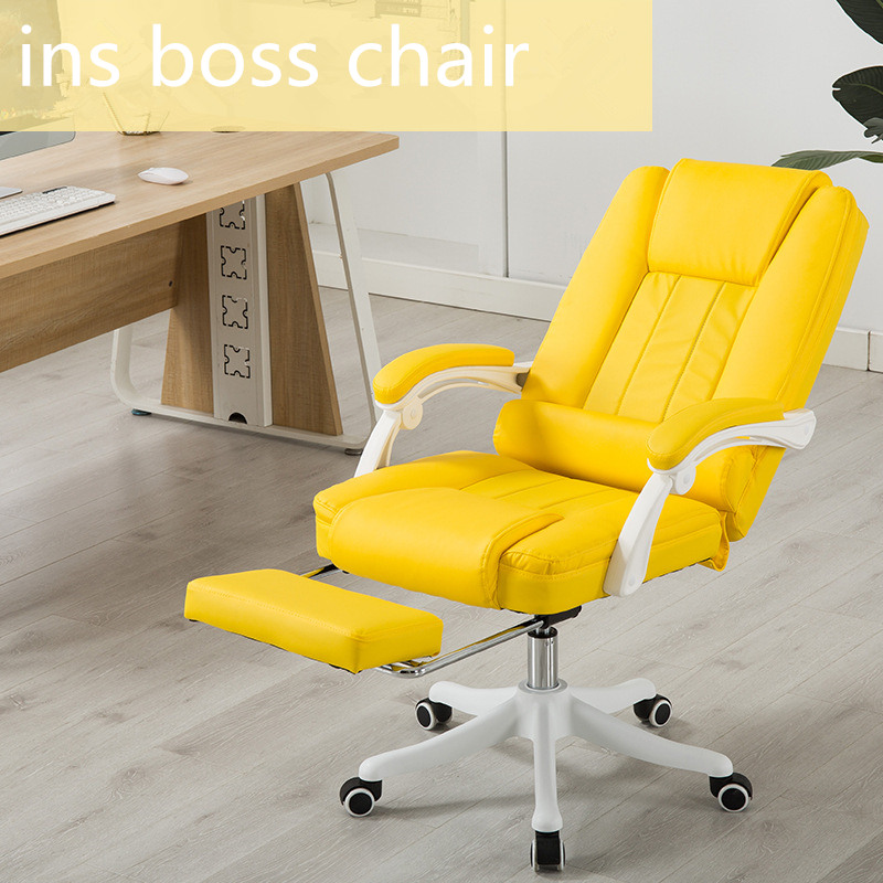 Gaming Chair Lying Lifting Boss Chair Youtuber Video Chair Computer Chair Pink Office Chair With Footrest Live Video Chair