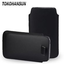 TOKOHANSUN Universal Phone Case for Vertex Impress Cube for Smartisan M1L PU Leather Phone Bag Cases Pouch(China)