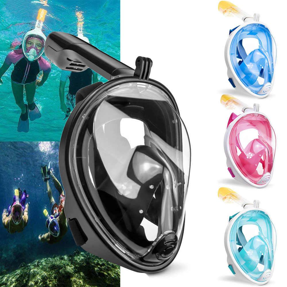 2019 Nieuwe Duikbril Scuba Masker Onderwater Anti Fog Volledige Gezicht Snorkelen Masker Vrouwen Mannen Kids Zwemmen Snorkel Duikuitrusting