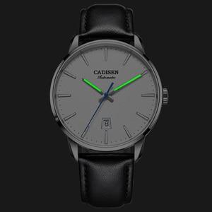 Image 3 - CADISEN2020 חדש למעלה גברים של אוטומטי מכאני שעון יוקרה מותג מכאני שעון צבאי עסקי פנאי עמיד למים גברי