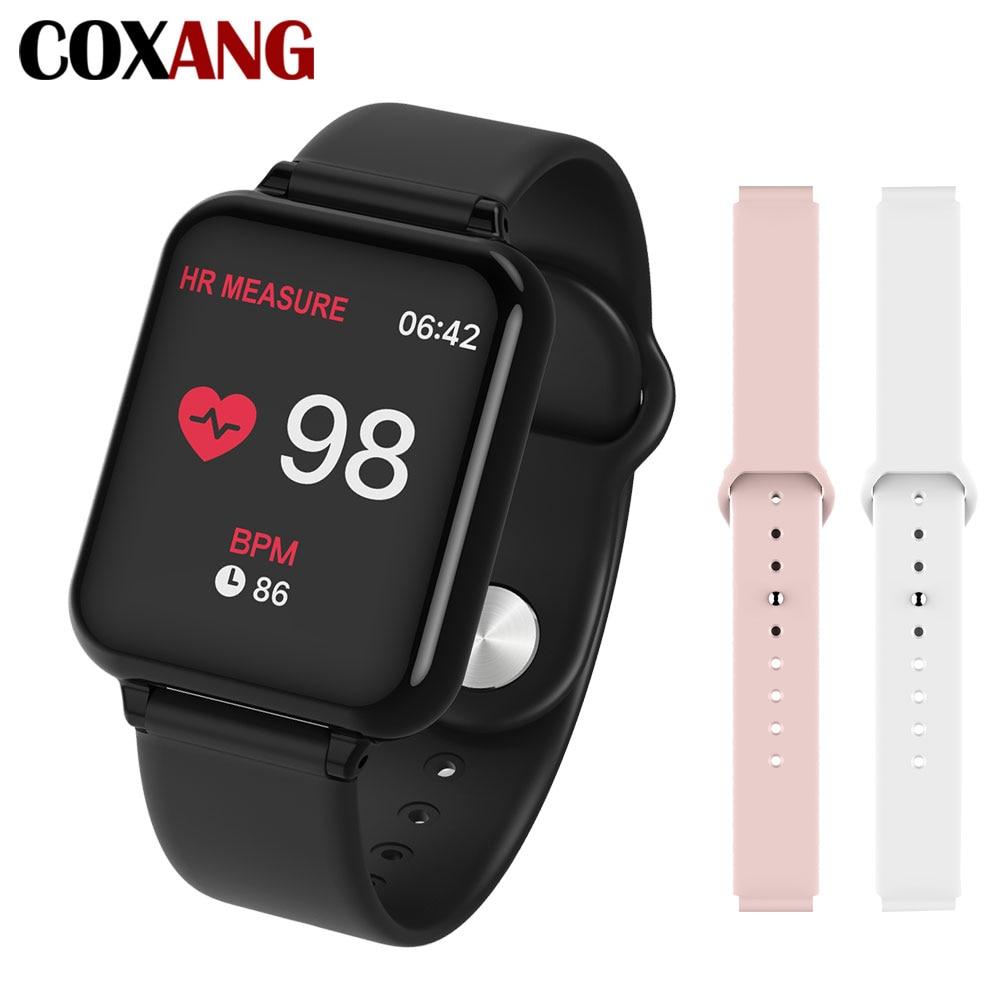 B57 COXANG Relógio Inteligente Com Monitor de Freqüência Cardíaca de Medição de Pressão b57 Smartwatch Pedômetro Relógio Inteligente À Prova D' Água ladie/Homens