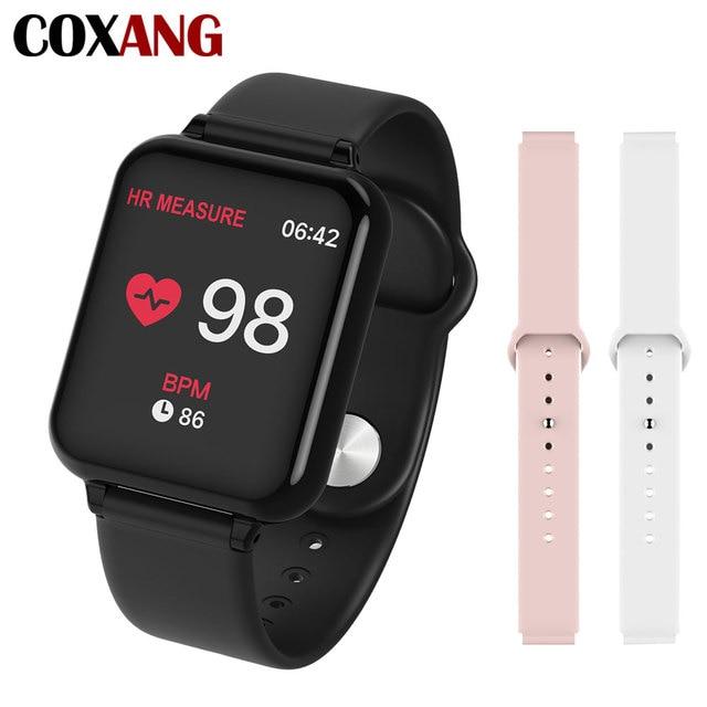 COXANG b57 חכם שעון עם לחץ מדידת קצב לב צג b57 Smartwatch עמיד למים מד צעדים חכם שעון ladie/גברים