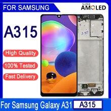 """6.5 """"מקורי לסמסונג גלקסי A31 A315F LCD תצוגת מסך מגע Digitizer עצרת החלפה עבור Samsung A315 LCD תצוגה"""