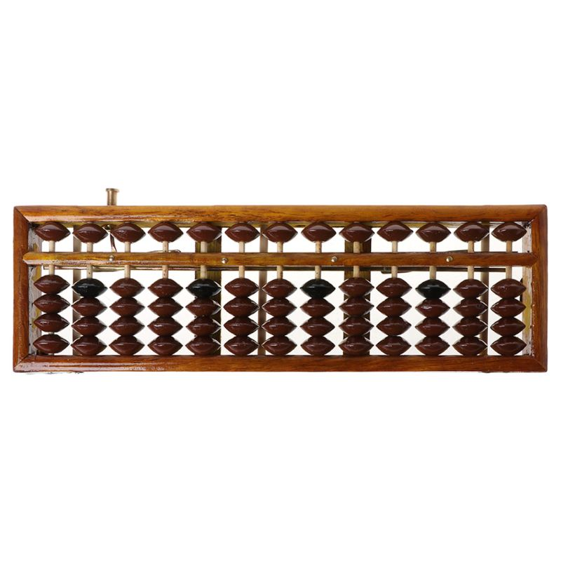 13/17/23 Digits Wooden Soroban Standard Abacus Chinese Calculator Counting Math Learning Tool Beginners