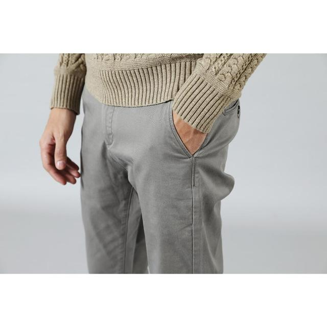 New Casual Cotton Slim Fit Chinos Fashion Trousers Male Brand Clothing Plus Size 4