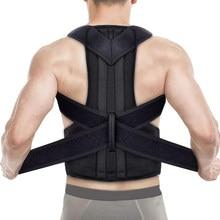Postura corrector volta apoio ombro ajustável para trás cinta postura correção coluna masculino feminino universal postural fixer fita