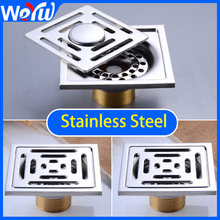 Floor Drain Stainless Steel Square Bathroom Shower Drainer Strainer Linear Covers Sink Linear Waste Grates Tile Insert premintehdw 300mm 12 304 stainless steel floor drain linear shower drainer