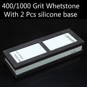 Image 3 - 400 1000 세트 커런덤 연마 숫돌 숫돌 주방 나이프 숫돌 가정용 도구 h4