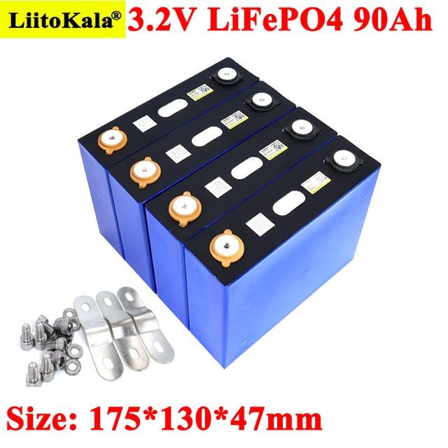 Liitokala 3.2v 90AhバッテリーパックLiFePO4 12v 24v 3C 270Aリチウム鉄phospha 90000 2600mahバイク電動車モーター電池