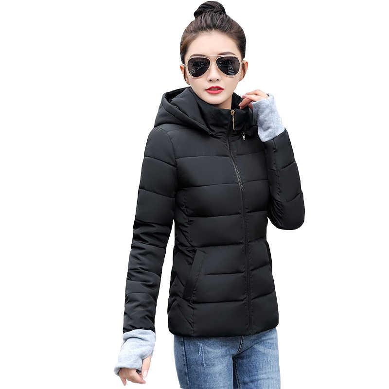 Weibliche Jacke Plus Größe 6XL Herbst Winter Jacke Frauen Dicke Warme Mit Kapuze Parkas Mujer Baumwolle Padded oberbekleidung Frauen Winter Mantel