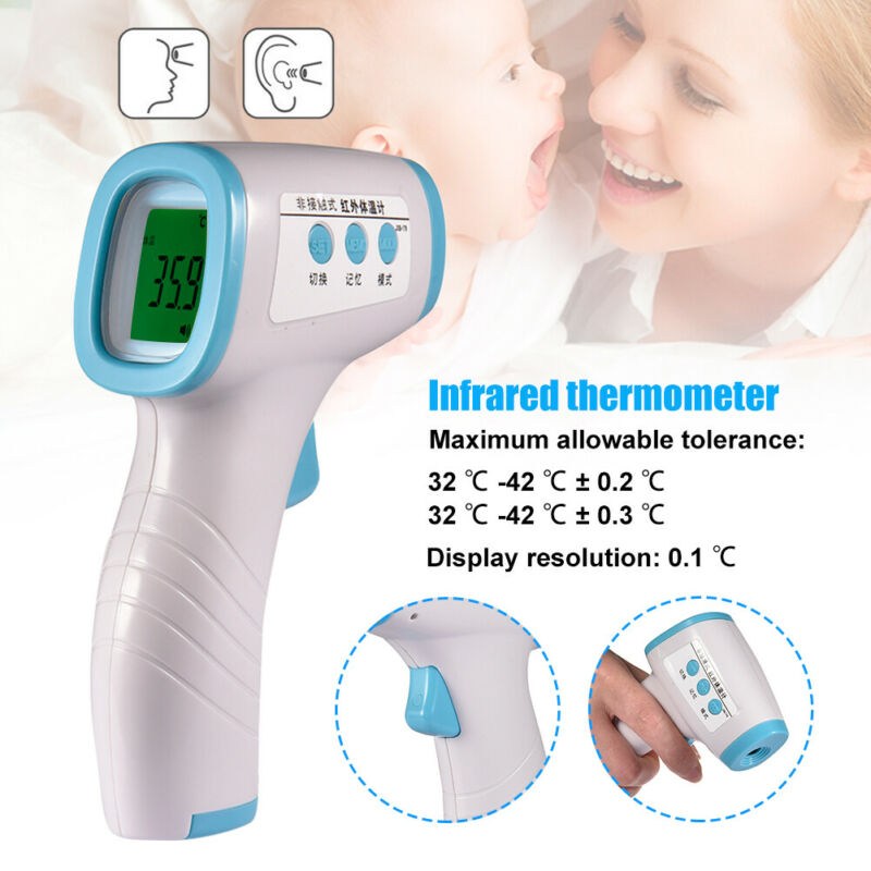 IR Infrared Digital Non-Contact Forehead Thermometer Baby Adult Ear Temperature Tool Non-Contact Temperature For Adult Baby