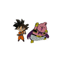 Dragon topu Super Z Goku & Majin Buu otantik Anime emaye Pin seti(China)