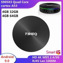 Android 90 смарт ТВ коробка 4 Гб оперативной памяти 32 встроенной