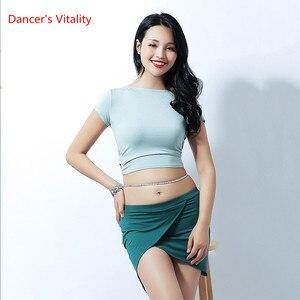 Image 5 - Nuovo Stile di Danza Del Ventre Sexy Haft A Maniche Lunghe Top Vestiti + Pannello Esterno 2 pcs del Vestito Per Le Donne di Danza Del Ventre Del Ventre set di danza Delle Ragazze di Danza Set