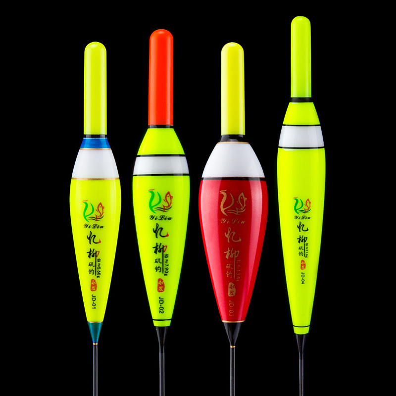 1Pcs LED Fishing Float Balsa Wood Electronic Fishing Float Saltwater Luminous Fishing Buoy pesca With CR425 Carp Fishing J255