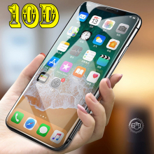 10D Curved Edge Cover Temperd Glass On The For iPhone XS Max XR X Full Screen Protector 7 8 6 6S Plus glass
