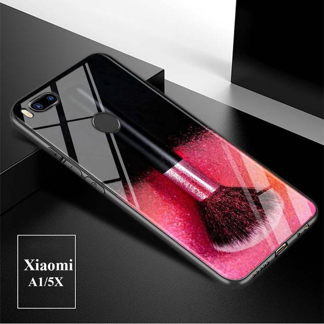 Black Cover Fashion make up brush for Xiaomi Mi A1 A2 5X 6X 6 8 9 9SE CC9 F1 9T 9TPro Mi Play Super Bright Glossy Phone Case