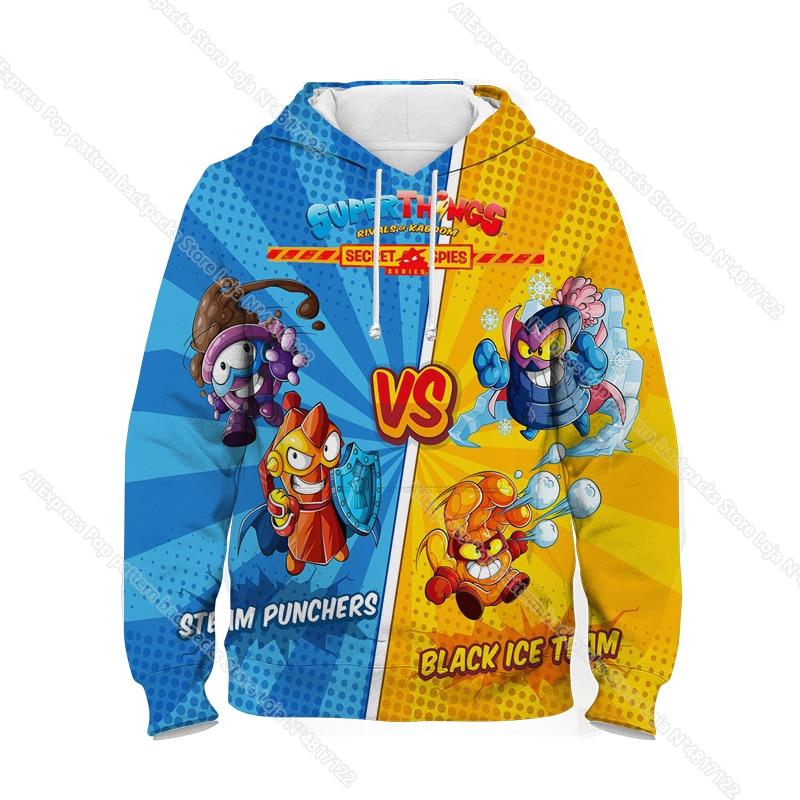 New Super Zings Series 6 Hoodies for Teens Girls Autumn Winter Kids 3D Cartoon Pullover Children Superzings Sweatshirt Boys Tops 30