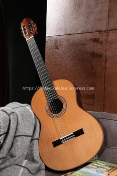 free shipping 38 inch parlor guitar solid wood acoustic guitar flame maple parlor body guitar aaa quality acoustic guitar Finlay 39 inch Full Solid Acoustic Classical guitar With Cedar Top/ Solid Rosewood Body +Hard Case,Professional Handmade guitar