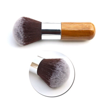 Profesjonalny pędzel do makijażu płaski pędzel do makijażu pędzel kosmetyczny do makijażu pędzel do makijażu drewniany pędzel do makijażu Kabuki tanie i dobre opinie Plukotelu Koza włosów NYLON Włosy syntetyczne Fundacja LSH589 Drewna Power Foundation Blusher Eyeshadow Home Travel Pro Makeup