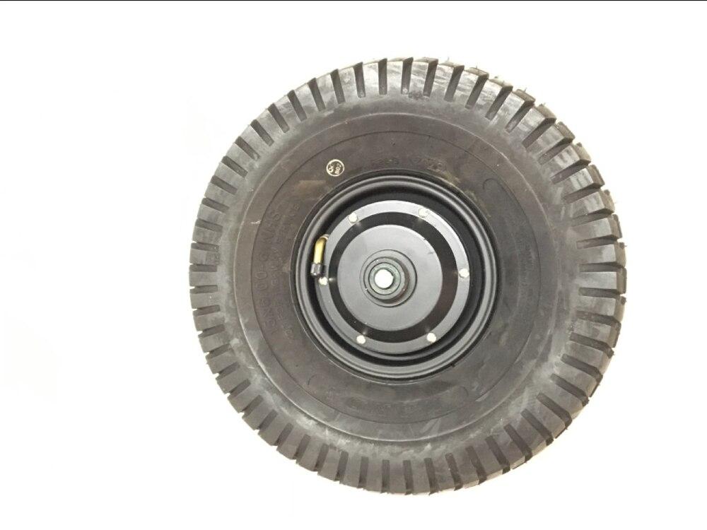 DC bürstenlosen 15 zoll einzigen welle getriebelose elektrische hub motor rad 48V 800W max 40 km/h mit montage halterung