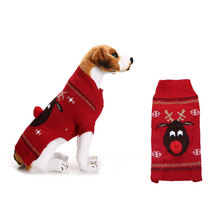 Knitwear Outfit Sweater Puppy Pet Dogs Winter for Large Reindeer Clothing Soft Ropa Perro