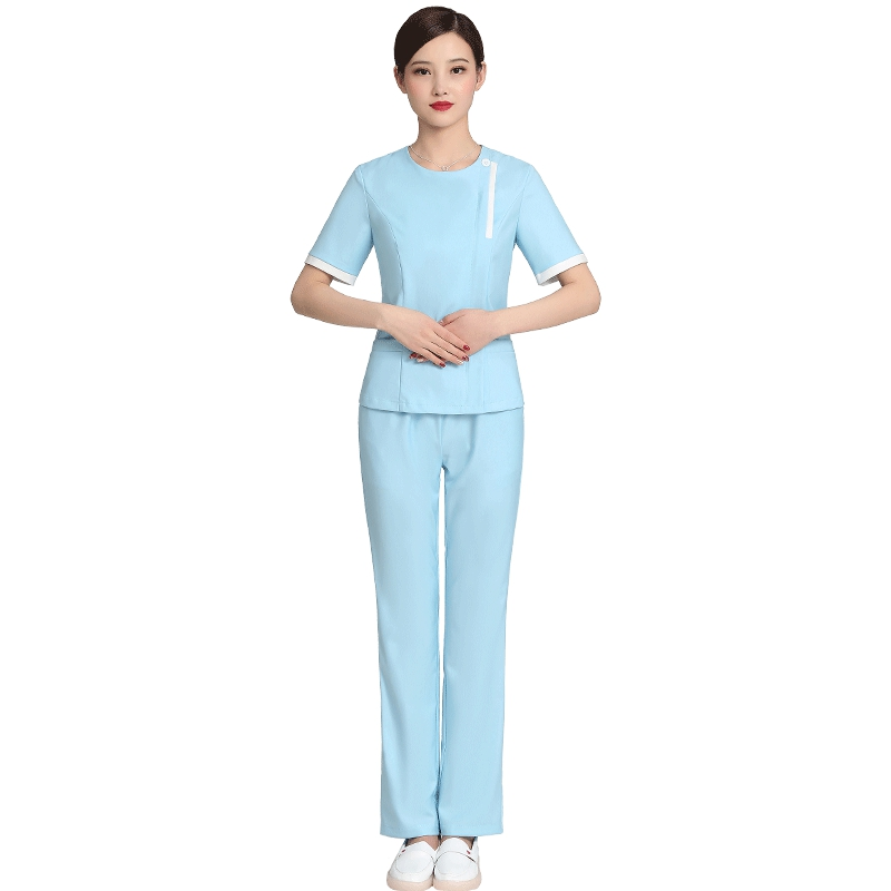Foot bath technician uniform short sleeve suit health pedicure club uniform beauty salon cosmetologist clothing