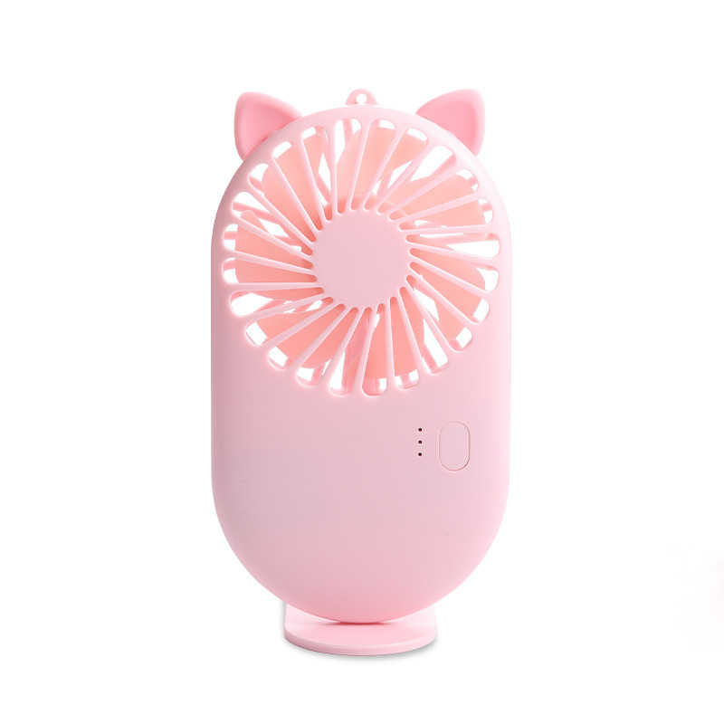 USB Charging Desktop Mute Cute Pet Pocket Fan Creative Mini Handheld Portable