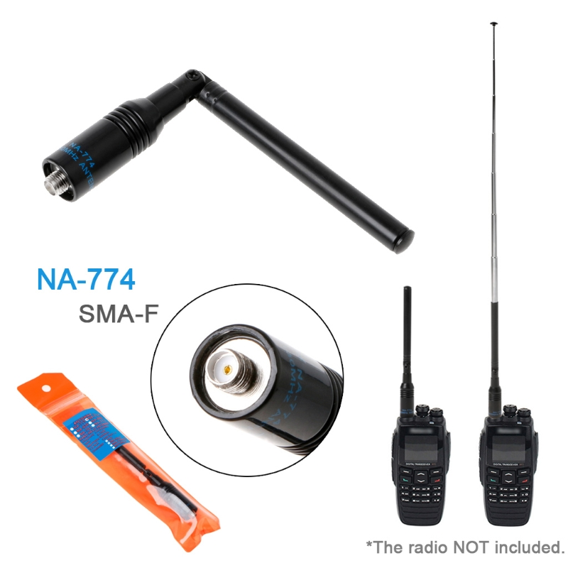 NA774 SMA-F Telescopic UHF/VHF Walkie Talkie Foldable Antenna For Baofeng UV5R X6HA