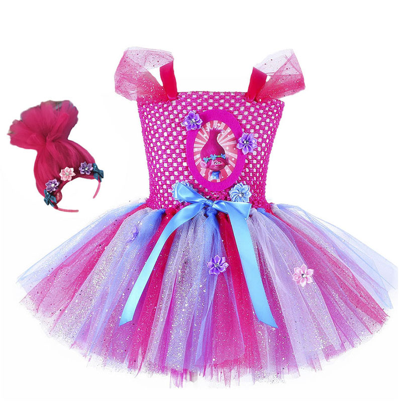 -With NAME- party Tutu outfit Trolls  Dress 5th Birthday