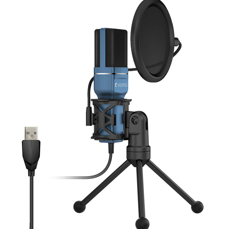 New Professional USB Condenser Microphone Plug And Play Uni-directional Cardioid Desktop Microphone Kit For PC Computer YouTube