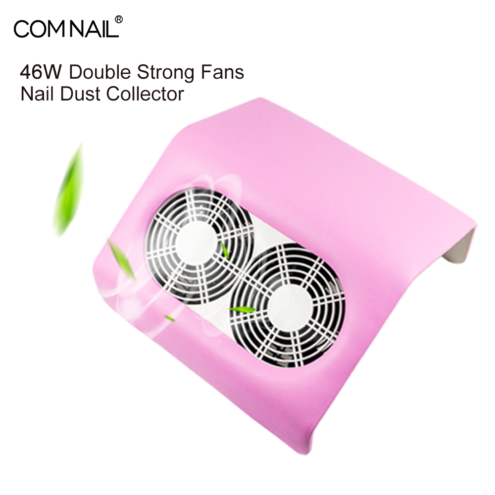 46W Nail Dust Collector Vacuum Cleaner Double Fans Powerful Professional manicure machine with 2 Dust Bag Nail Salon Equipment