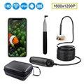 Телефон 1200P HD телескопическая Wifi эндоскоп Инспекционная камера IP68 Водонепроницаемый 2.0MP эндоскоп жесткий провод мини камера с 8 светодиодны...