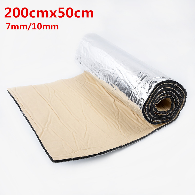 50*200cm 7mm 10mm Car Truck Firewall Heat Sound Deadener Insulation Mat Noise Insulation Car Heat Sound Thermal Proofing Pad